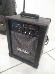 Caixa de som Sheldon Max 1000 Bluetooth USB Bivolt