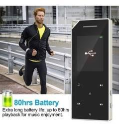 Ruizu Mp3 Player D05 8gb Mp4 metall player sound Bluetooth 80hrs Rádio Fm + Fone