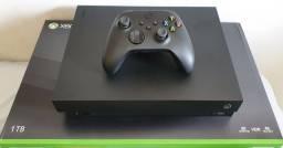 Xbox one X com controle