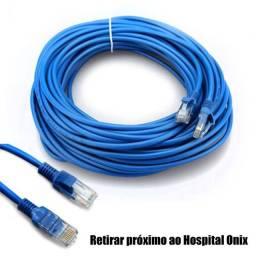 Cabo de rede cat5e montado para fibra,tvbox e internet (R$ 1,70 o metro)