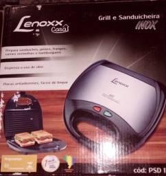 Grill E Sanduicheira Lenoxx inox Classic 127v