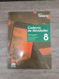 Livro Projeto Teláris  Caderno de Atividades 8 Português