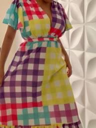 Título do anúncio: Vestido longo estampa vichi