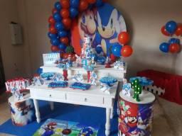 Decoração Mario & Sonic