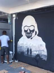 Pintura artística em parede!