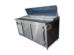 Balcão Refrigerado Aço Inox Condimentador Cozinha Industrial