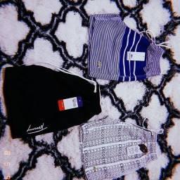 Roupas,carteiras, boné,shorts praia