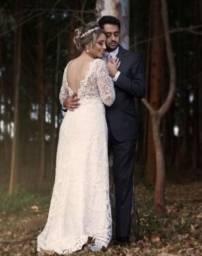 Vestido de noiva Ateliê Vila la Vie - usado - veste 40/42 - em perfeito estado