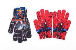 Luva De Lã De Frio Homem Aranha Menino Infantil Cor Preta- Spider Man