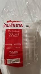Pote plástico pra festa 350ml