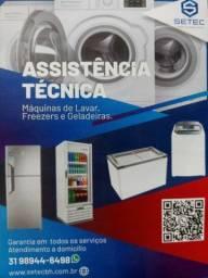 Título do anúncio: Conserto de máquinas de lavar e geladeiras
