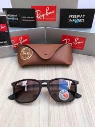 Óculos de sol Ray ban RB4187 marrom degradê polarizado