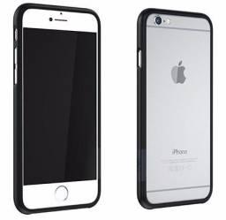 Capa Transparente Fosca Iphone 5c Com Bumper Preto, usado comprar usado  Vitória