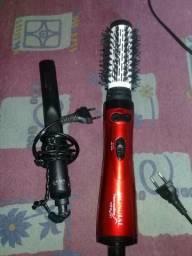 Prancha/chapinha e escova rotatória gama