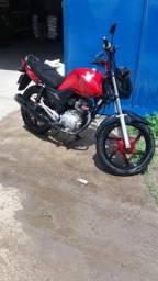 Vendo moto cg 150 honda estart Flex vermelha semi nova apenas 27.000 km rodado - 2016