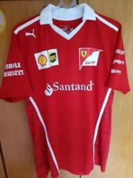 Camisa Polo Ferrari Santander Scuderia F1