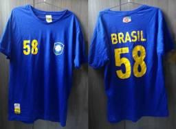 d4756282134d2 Coleção Completa Com 5 Camisas da Seleção Brasileira Guaraná Tam G