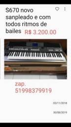 Vendo teclado s670 novo