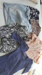 Lote Blusas e vestidos