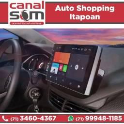 Central Multimídia Onix Plus 2020 Android Tela 10 pol. instalada na Canal Som