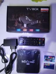 Tv box MxQ pro 4k 5g lacrados promoção