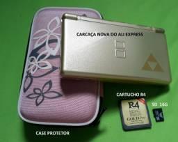 Nintendo DS Lite Dourado Zelda (leia)