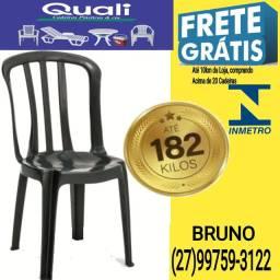 Cadeira Plástica Reforça 182kg -aprovada-