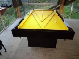 Mesa Sedução e Jantar Cor Preta Tecido Amarelo Mod. QCBF0677