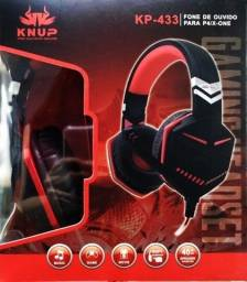 Headset Fone Gamer C/ Microfone Knup Kp-433 Pc Xbox One Ps4