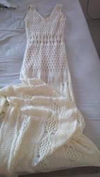 Vestido de croche off white