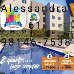 Apartamentos dois quartos Planaltina Df Minha casa Minha Vida