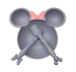 Kit Prato Mickey E Minnie Talheres Colher E Garfo Disney