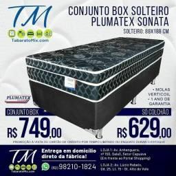 Conj. Solteiro Plumatex Sonata   Black 26CM  Molas Verticoil1 TRAVESSEIRO BRINDE<br>