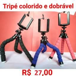 Mini Tripé para Celular / Cameras Dobrável Flexível
