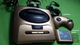 Mega Drive 3 Dourado + Cartucho com 6 Ótimos Jogos