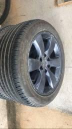 Jogo de rodas da hilux aro 20 com pneus novos