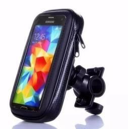 Suporte de celular com protetor de chuva