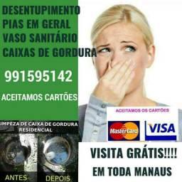 Desentupimento em geral em toda Manaus desentupimento