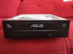 Gravador de DVD interno Asus 24x Preto