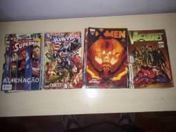 Revistas Dc comics e Marvel