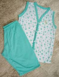 Kit 6 pijamas tamanho M por 120 reais