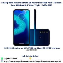 Smartphone Motorola Moto G8 Power Lite 64GB Azul - 4G Octa-Core 4Gb RAM