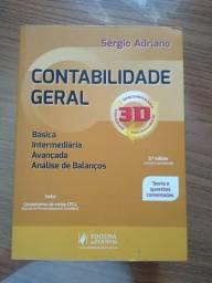 Livro: Contabilidade Geral - Sérgio Adriano. Em ótimo estado