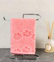 Porta-toalha prateado