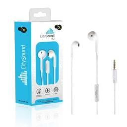 Fone de Ouvido Com Microfone DL CitySound M2, Intra- auricular, Estéreo,