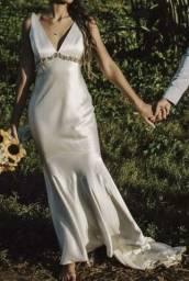 Vestido noiva importado T38 setim