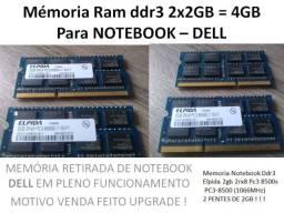 Notebook Memória Ram 4G DDR 3