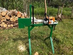 Cavalete picador de lenha para stihl MS260