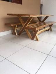 Mega oportunidade mesas de madeira maciça teca