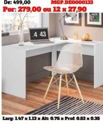 Promoção de Londrina - Escrivaninha de Estudo De Canto - Direto da Fabrica